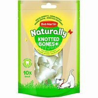 Naturally Huesos mini nudos para perro Paquete 10 uds