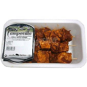 CAMPOVILLA Pinchos adobados de cerdo ibérico peso aproximado Bandeja 250 g