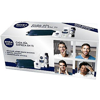 Nivea kit Sensitive con bálsamo after shave For Men frasco 100 ml