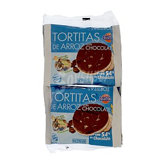 Hacendado Tortita arroz chocolate Pack 4 uds (122 g)