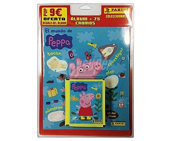 PANINI Blister con álbum y 15 sobres de cromos de Peppa Pig 1 unidad