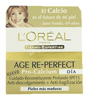 L'Oréal Crema facial anti-descolgamiento + Anti-fragilación Pro calcium Noche 50 ml