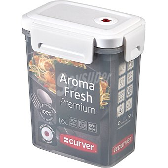CURVER Aroma Fresh Premium Hermético rectangular transparente tapa blanca 1,6 l 1,6 l
