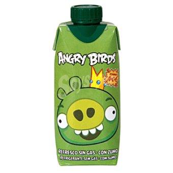 Angry Birds Refresco sin gas verde con zumo Brik 33 cl