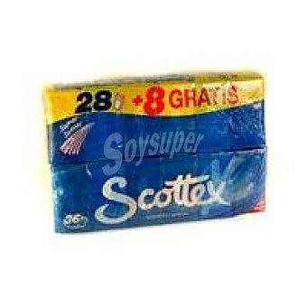 Scottex Pañuelos de papel Paquete 28+8 unid
