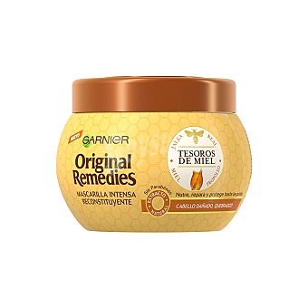 Original Remedies Garnier Mascarilla reconstitución intensa tesoros de miel para cabello dañado y quebradizo Tarro de 300 ml