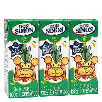 Don Simón Zumo piña exprimida Pack 3x20 cl