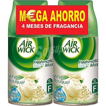 Air Wick Ambientador Automático Recambio Fresh Matic White Bouquet Pack 2 ud