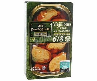 Lobueno Mejillones en escabeche fritos de las rías gallegas 6-8 piezas Lata 72 g neto escurrido