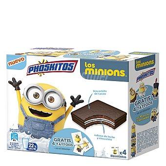 Phoskitos Bollitos de chocolate bandeja 4 ud
