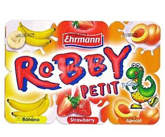 Ehrmann Petit Fresa-Plátano-Albaricoque 6 Unidades de 50 Gramos
