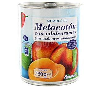 Auchan Melocotón en mitades con edulcorante Lata de 480 gr