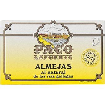 Paco lafuente Almejas al natural de las rías gallegas 10/12 lata 65 g lata 65 g