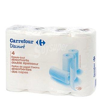 Carrefour Papel de cocina 2 capas 4 rollos