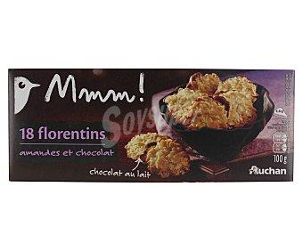 Mmm Auchan Galletas con chocolate con leche y almendras 100 g