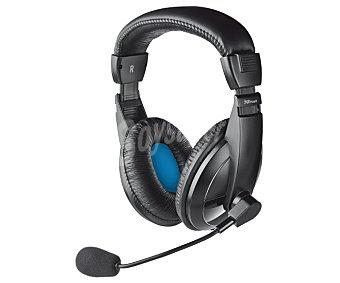 TRUST QUASAR Auriculares para PC tipo casco, con micrófono, conexión Jack 3,5mm
