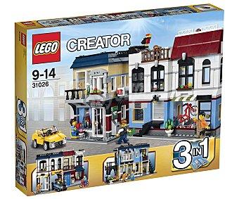 LEGO Juego de Construcciones Creator Tienda de Bicicletas y Cafetería 3 en 1, Modelo 31026 1 Unidad