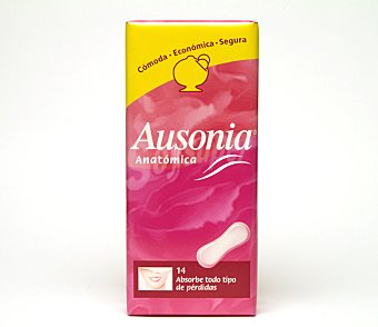 Ausonia Compresa anatomica normal blister 14 unidad + regalo 4 unid