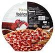 Pizza congelada ibérica ( chorizo ibérico, carne cerdo ibérico, mozarella, tomate ) 380 g Hacendado