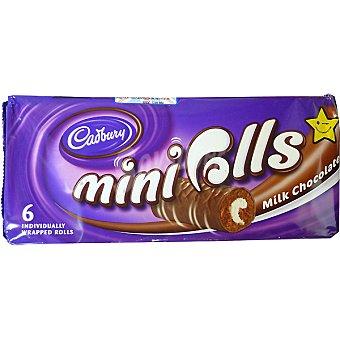 Cadbury Mini rolls pastelitos con chocolate con leche estuche 144 g 6 unidades