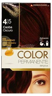 Deliplus Tinte coloracion permanente Nº 4,5 caoba oscuro u