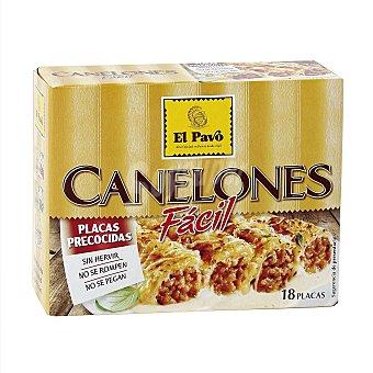 El Pavo Gallina Blanca Canelones precocidos 18 placas caja  125 g