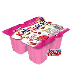 Kalise Kalisuisse sabor fresa Pack de 4x80 g
