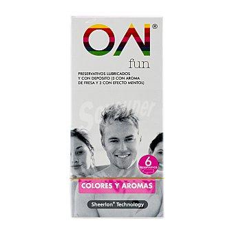 ON Preservativos fun (colores y aromas) Paquete 6 u