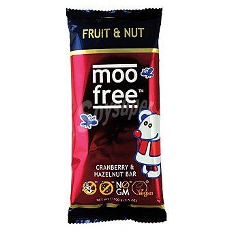 Moo Free Tableta de chocolate con avellanas y arándanos sin lactosa 100 g