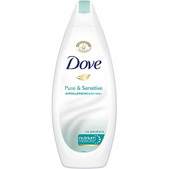 Dove gel de baño Pure & Sensitive Hipoalergénico sin parabenos para pieles sensibles Frasco 750 ml