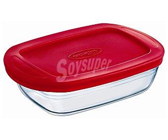 Ocuisine Recipiente rectangular con tapa apto para horno y microondas, 1,1 litros de capacidad 1 unidad
