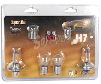 BCCORONA Estuche de bombillas 2XH7-1XP21W-1XP21/5W-1XR5W-1XW5W y 1 fusible 10A 1 Unidad