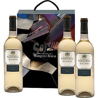 MARQUES DE RISCAL Vino blanco verdejo D.O. Rueda  Estuche 3 botellas 75 cl