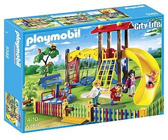 Playmobil Playset escenario Zona de juegos infantil, incluye 5 figuras y multitud de accesorios, modelo 5568 City Life 1 unidad