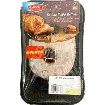 Aveclass Roti de pavo relleno de castañas bandeja 900 g peso aproximado