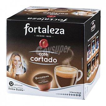 Dolce Gusto Nescafé Café cortado en cápsulas Fortaleza compatible con 12 unidades de 7 g