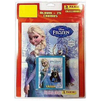 PANINI Blister con álbum y 15 sobres de cromos de la película Disney Frozen 1 unidad
