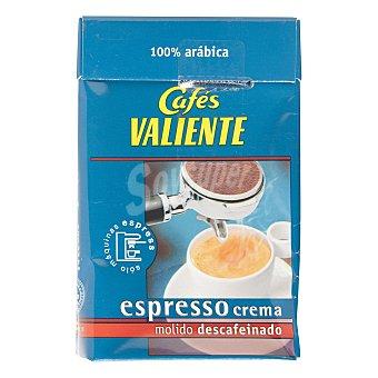Cafés Valiente Café molido descafeinado para máquina espress 250 g