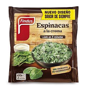 Findus Bolsa de espinacas a la crema, sin colorantes, ni conservantes 450 g