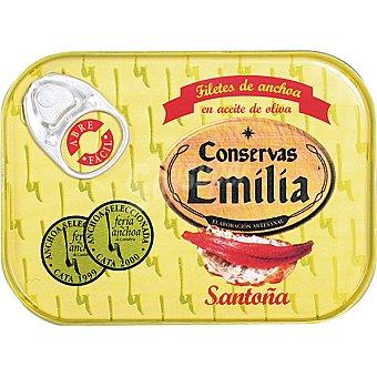 EMILIA Filetes de anchoa del Cantábrico en aceite de oliva lata 50 g neto escurrido Lata 50 g neto escurrido