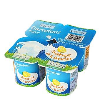 Carrefour Yogur sabor limón Pack 4x125 g