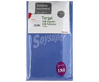 AUCHAN Sábana encimera color lavanda, 160/180 centímetros 1 Unidad