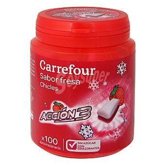 Carrefour Chicle fresa triple acción 100 ud