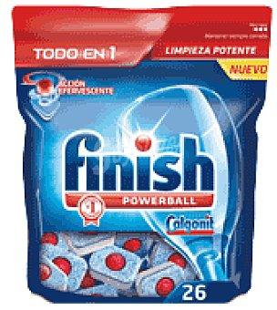 FINISH CALGONIT Lavavajillas maquina todo en 1 26 pastillas