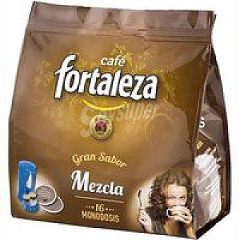 Fortaleza Café molido mezcla Paquete 16 monodosis