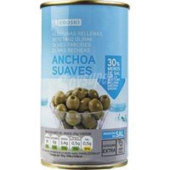 Eroski Aceitunas rellenas de anchoas suaves 150g