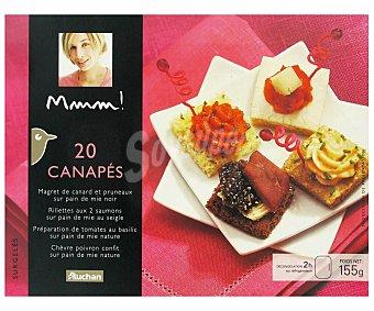 Mmm Auchan  Canapés Surtido 20u 155g