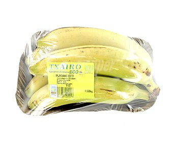 Plátano de Canarias Plátano de Canarias ecológico Bandeja 800 g peso aprox.
