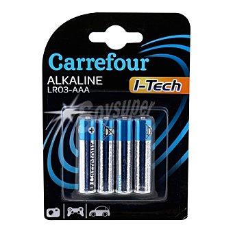 Carrefour 4 Pilas LR03 hi-tech 4 ud