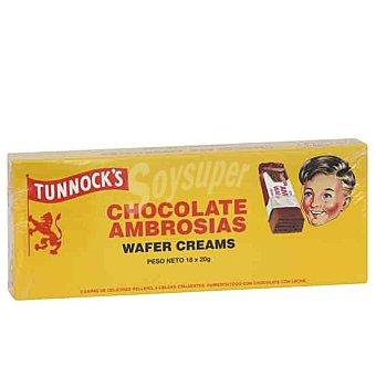 Tunnock's Ambrosias galletas de barquillo con chocolate Paquete 18 unidades